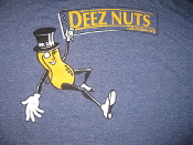 MMHO-Mr. Save Deez Nuts- Heather Blue Tee