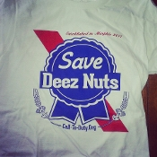 MMHO- Save Deez Nuts-Blue Ribbon