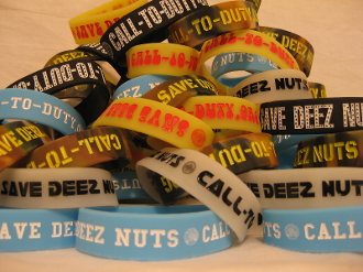 Save Deez Nuts 3/4 inch wristband  6 pack